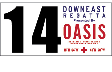 Regatta Bow Number with Sponsor Logo