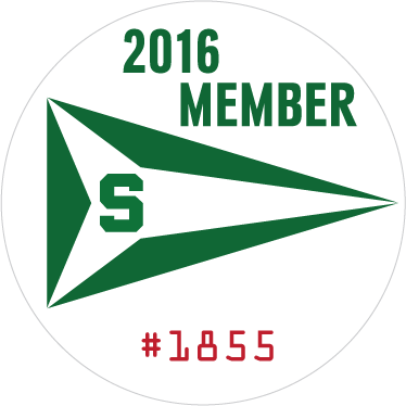 Yacht Club Membership Sticker - with numbers - example